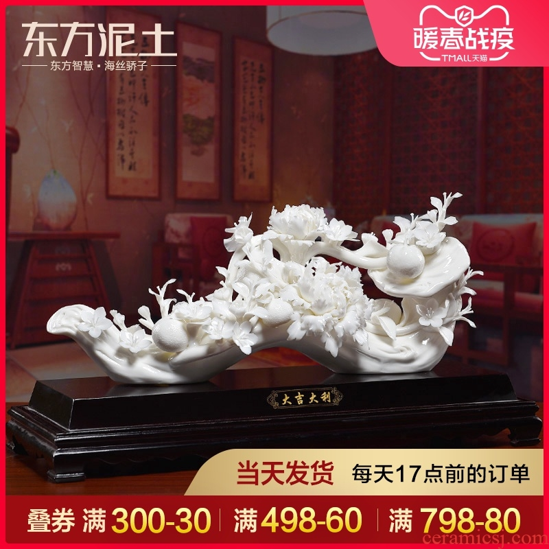 Oriental soil sitting room porch ceramic handicraft furnishing articles version into gifts key-2 luxury/prosperous New Year