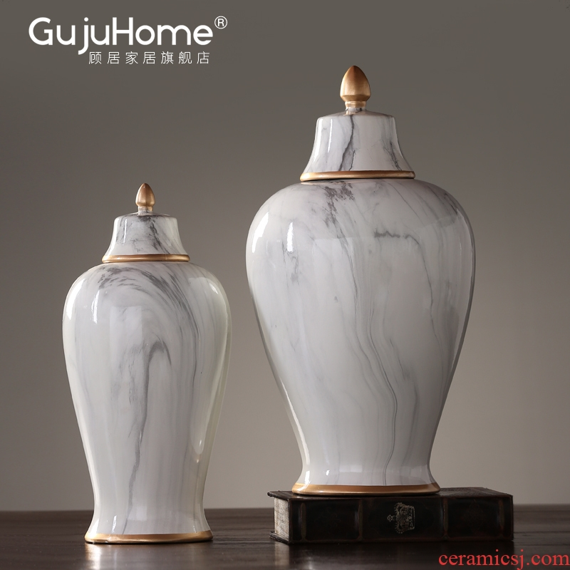 American general contracted tank ceramic vase furnishing articles home sitting room porch soft outfit is placed between example adornment