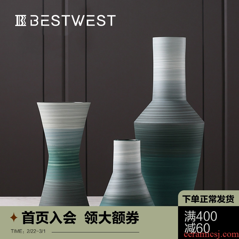 Creative geometric ceramic vases, flower arranging is large home sitting room light sample room key-2 luxury soft adornment is placed