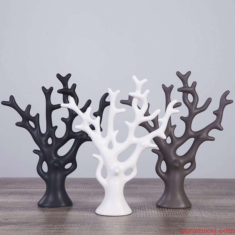 Nordic new rich creative household act the role ofing is tasted wine sitting room adornment ceramic tree furnishing articles housewarming gift