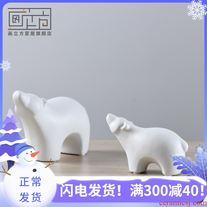The Bear picture cube Nordic contracted decorations furnishing articles household soft outfit fashionable sitting room ceramics creative gift
