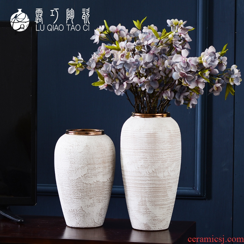 Developed ceramic vases, sitting room of I and contracted household TV ark opportunely show originality retro porch is decorated furnishing articles