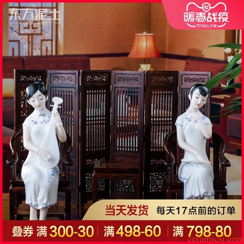 Oriental soil dehua white porcelain its art creative ceramic home furnishing articles/dream jiangnan D04-01