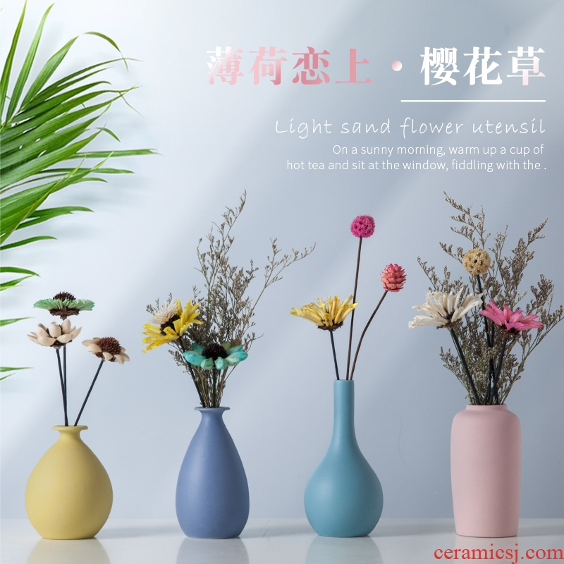 Contracted ceramic vases, flower arranging dried flowers furnishing articles modern Nordic the sitting room porch TV ark, ceramic home decorations