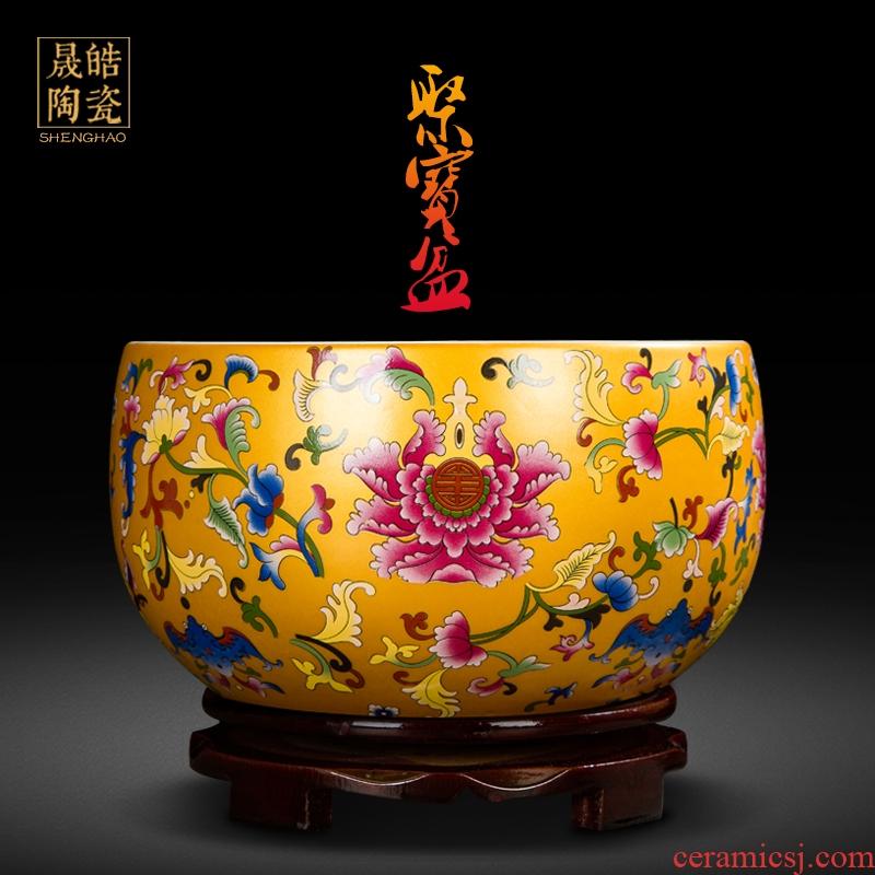 Jingdezhen ceramics cornucopia sitting room porch feng shui opening gifts decorative furnishing articles furnishing articles a thriving business. A basin