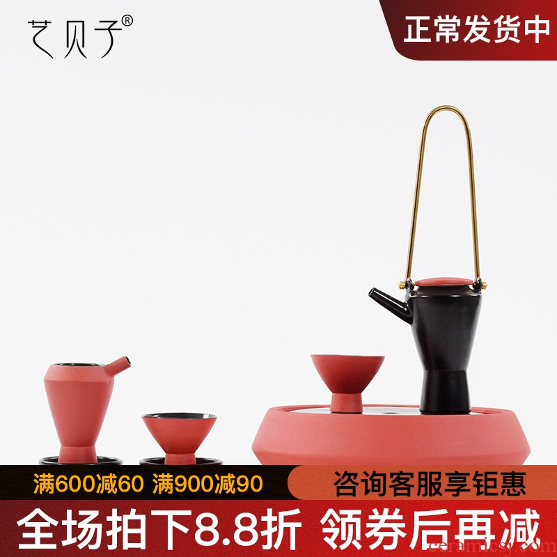 New Chinese style tea house home furnishing articles contracted hotel villa soft outfit ceramic tea set tea table suit household decoration