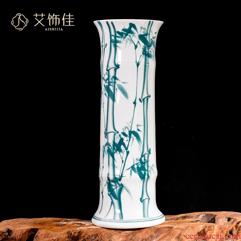 Jingdezhen ceramic lucky bamboo vases, flower arranging furnishing articles home sitting room TV ark, large landing hydroponic ornaments