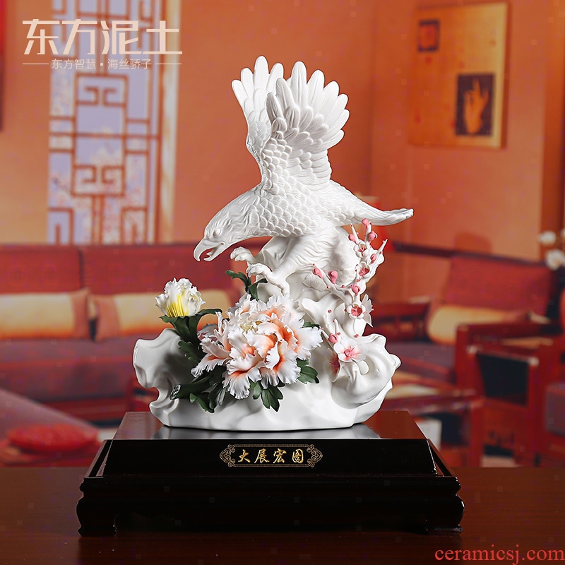 Oriental soil dehua ceramic flower its art furnishing articles business gifts and leadership/future