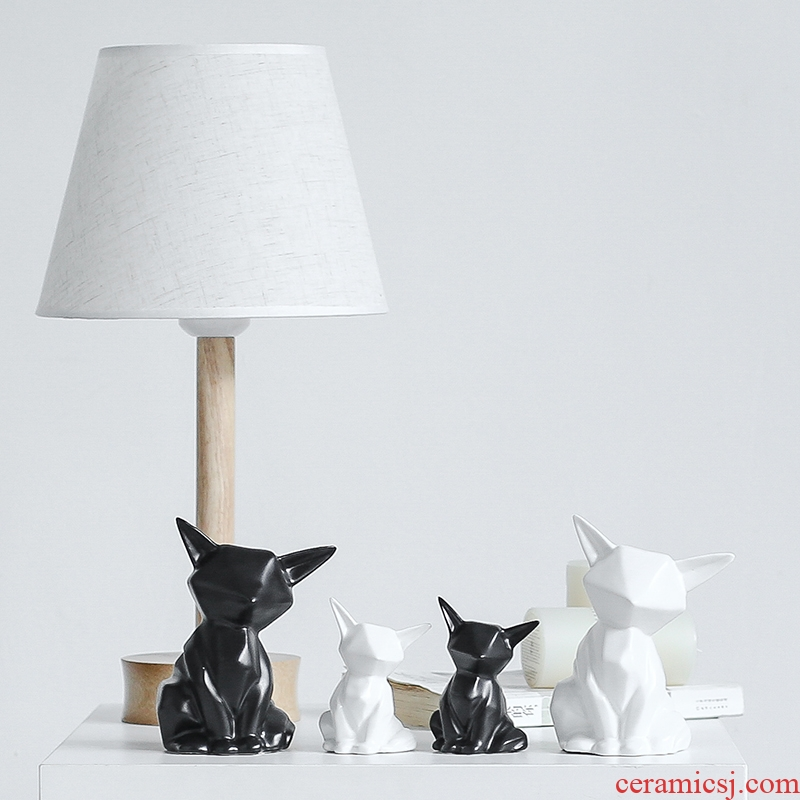 Nan sheng I and contracted ceramic household act the role ofing is tasted furnishing articles animals Nordic mesa adornment gift fox sitting room