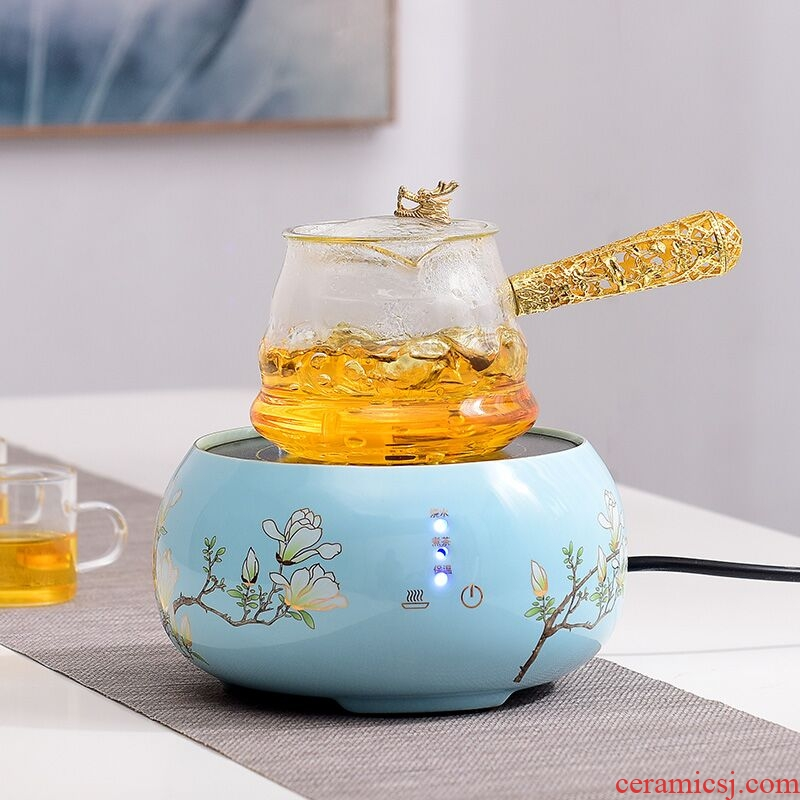 Electric TaoLu boiling steaming kettle black tea tea ware.mute glass teapot tea stove small home cooking tea set keeping in good health
