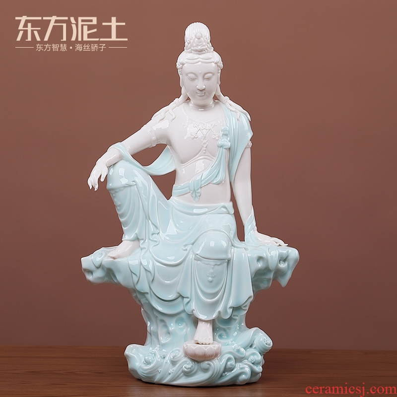 The east mud dehua ceramic its art of Chinese style house sitting room porch rich ancient frame/free goddess of mercy