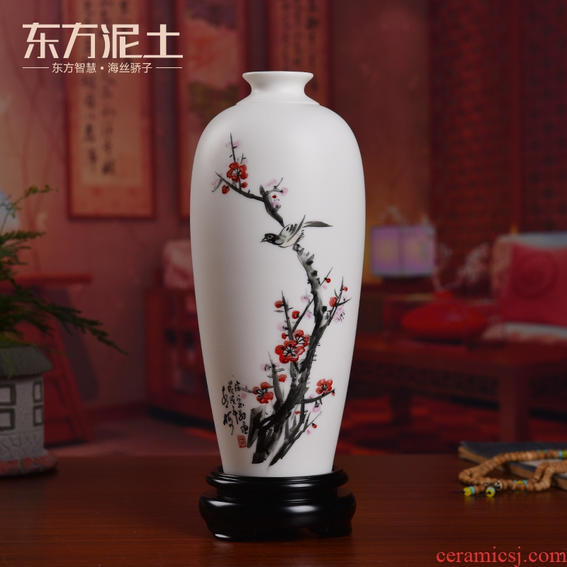 Oriental soil hand - made ceramic vase furnishing articles Chinese style household adornment art/by patterns