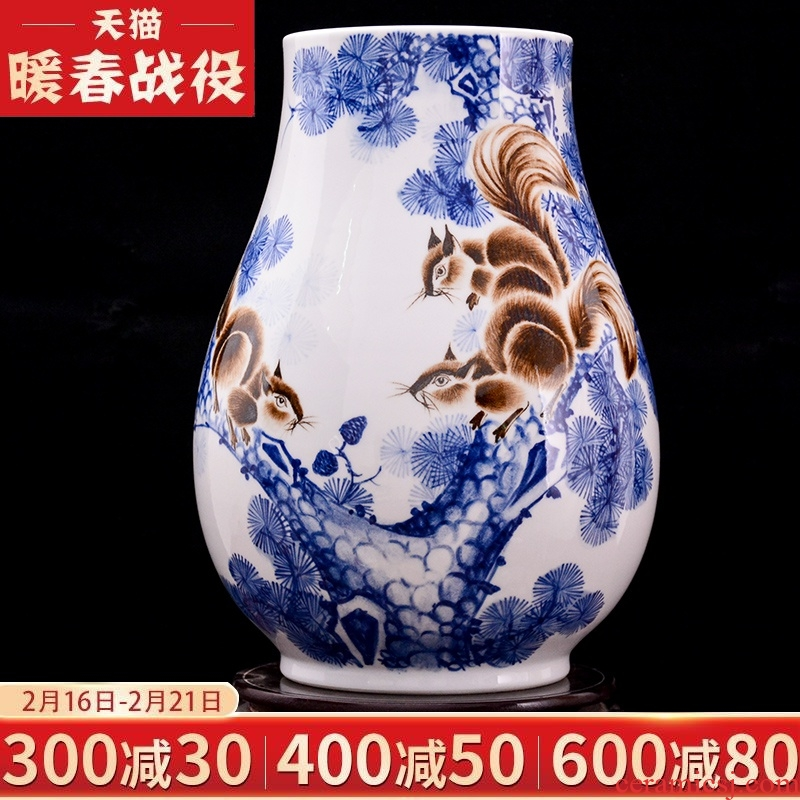 The Master of jingdezhen ceramic hand - made gold rat prosperous wealth vase household adornment flower arranging the sitting room porch handicraft furnishing articles