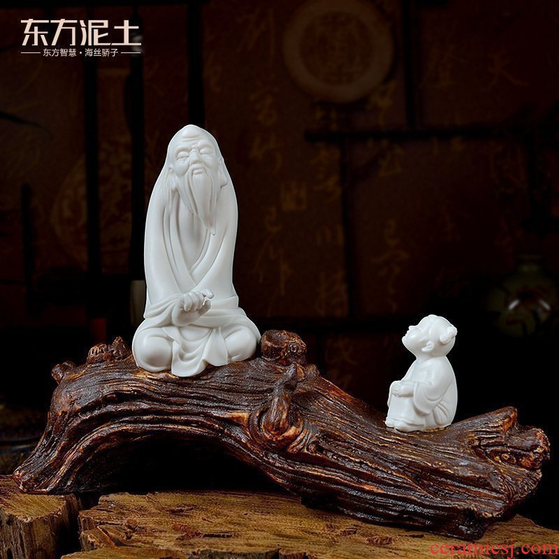 Oriental soil dehua white porcelain its art creative ceramic asked Chinese zen furnishing articles/sitting room