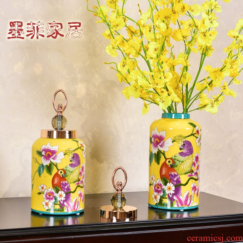 American light key-2 luxury furnishing articles of pottery and porcelain vase household act the role ofing is tasted the sitting room porch of new Chinese style household receive tank decoration decoration