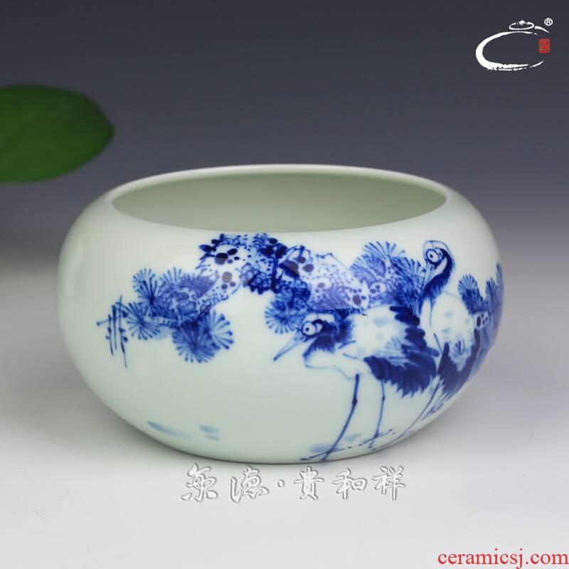 And auspicious jingdezhen ceramics by hand wash to kung fu tea tea accessories jing DE treasure tea place adorn article