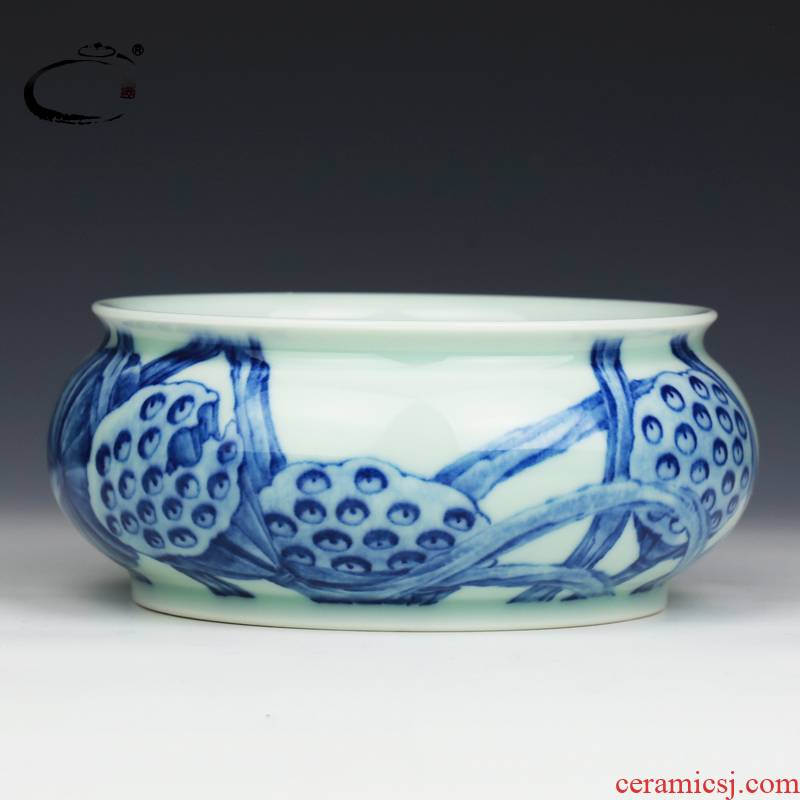 And auspicious jing DE treasure glair lotus washed jingdezhen ceramic writing brush washer from kung fu tea tea accessories