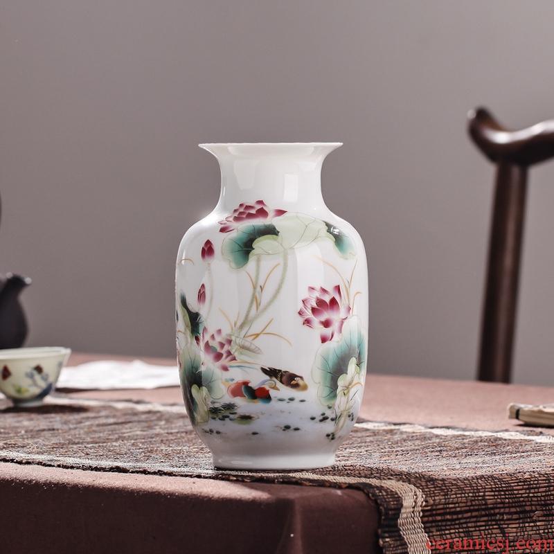 Jingdezhen ceramic floret bottle home decoration furnishing articles wedding flower arranging porcelain vase decoration decoration package mail mesa