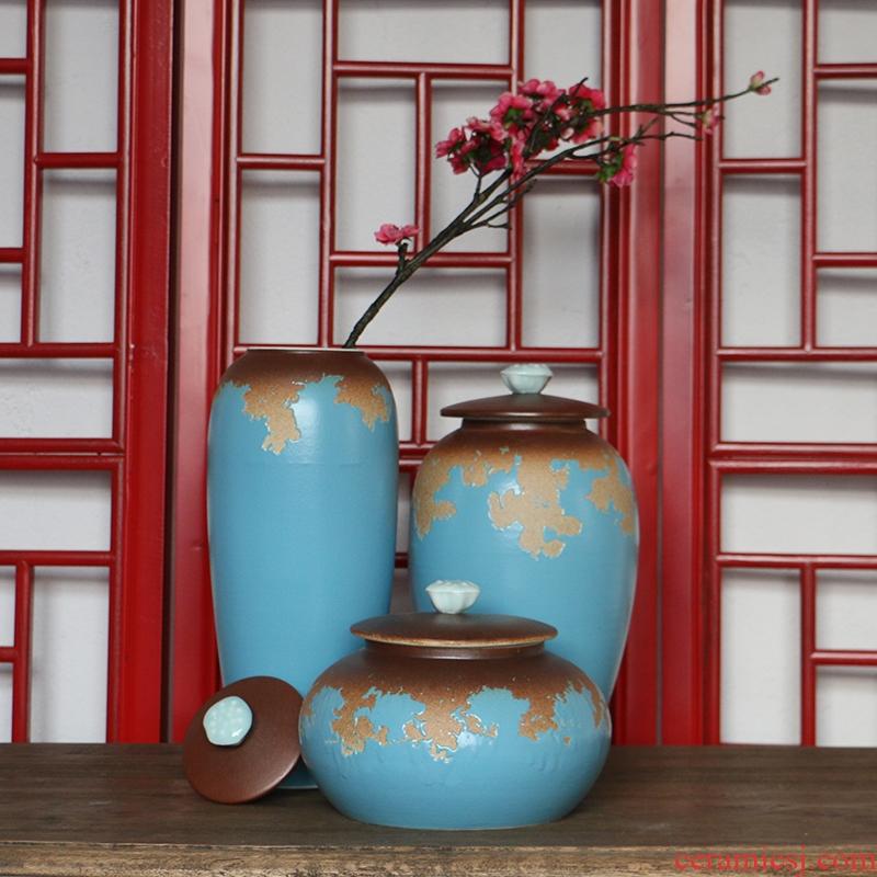 General European Mediterranean amorous feelings do old pot three - piece example room sitting room zen ceramics vase furnishing articles