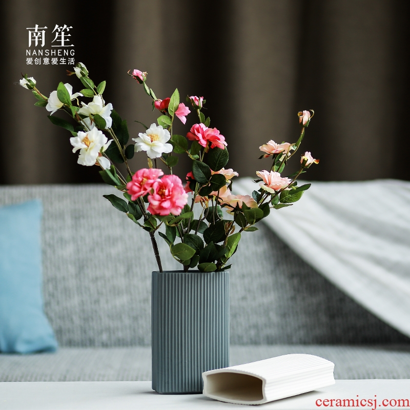Nan sheng small pure and fresh and contracted lucky bamboo home furnishing articles ceramics floret bottle of dried flowers flower arrangement creative living room decoration