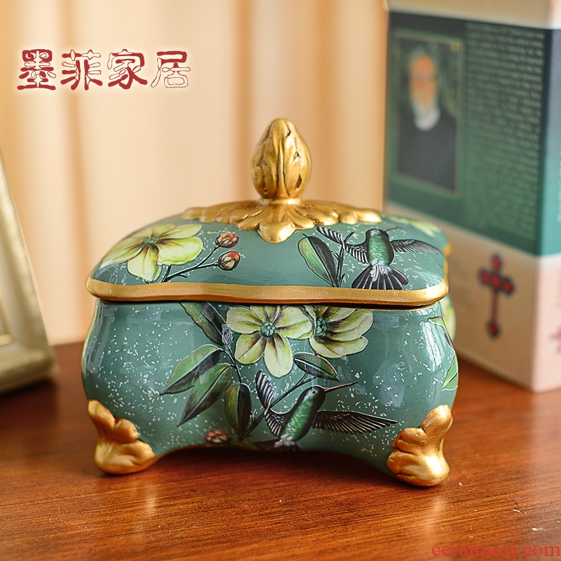 Europe type restoring ancient ways of creative furnishing articles of ceramic jewelry box candy jar American sitting room tea table wine soft adornment ornament