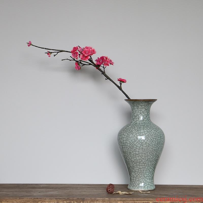 Modern Chinese style household antique vase up crack restaurant jingdezhen ceramics porch decorate the desktop furnishing articles