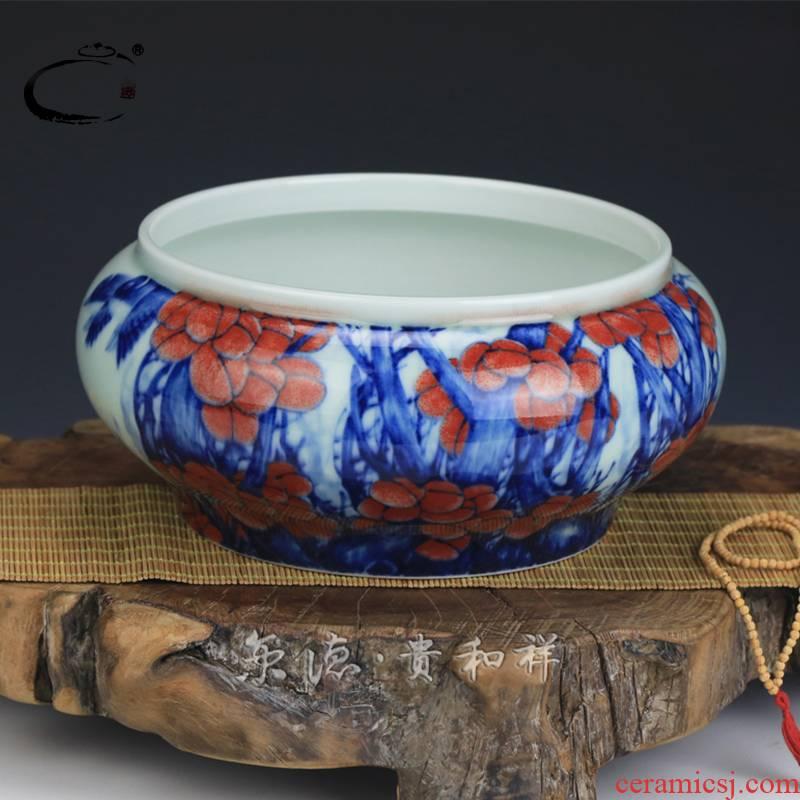 And auspicious jing DE collection jingdezhen ceramic tea set manually kung fu tea taking with zero tea glair big water washing