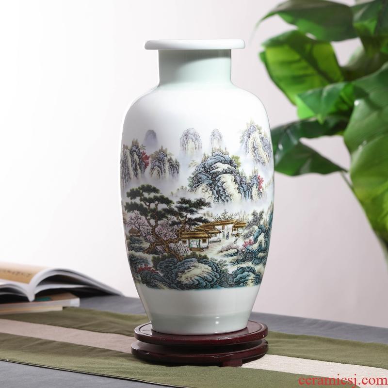 Porcelain of jingdezhen ceramic vase furnishing articles Porcelain flower arranging flower implement Chinese style living room decoration decoration TV ark