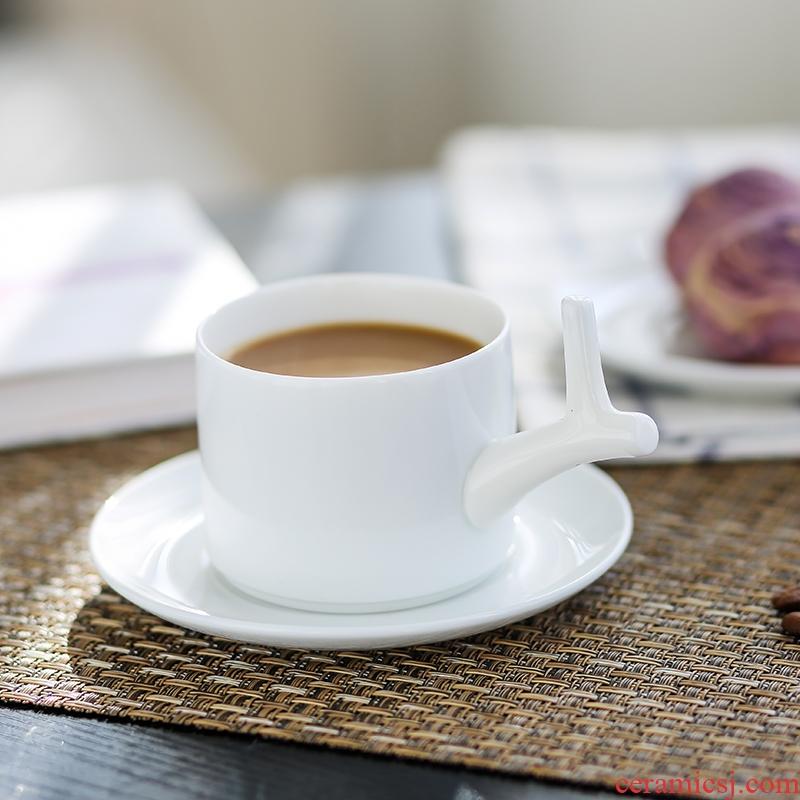 Nan sheng move simple elegant European - style ceramic espresso cups suit picking cups of milk tea cups