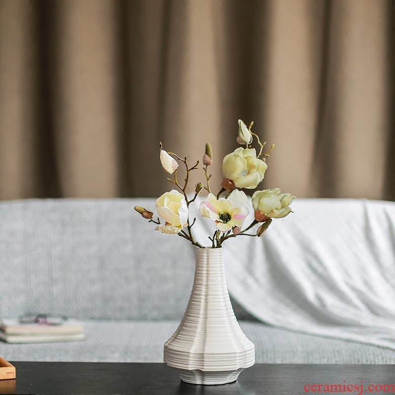 Nan sheng I and contracted fashion creative home furnishing articles ceramic vase simulation flowers, dried flowers lies flowers flower arrangement
