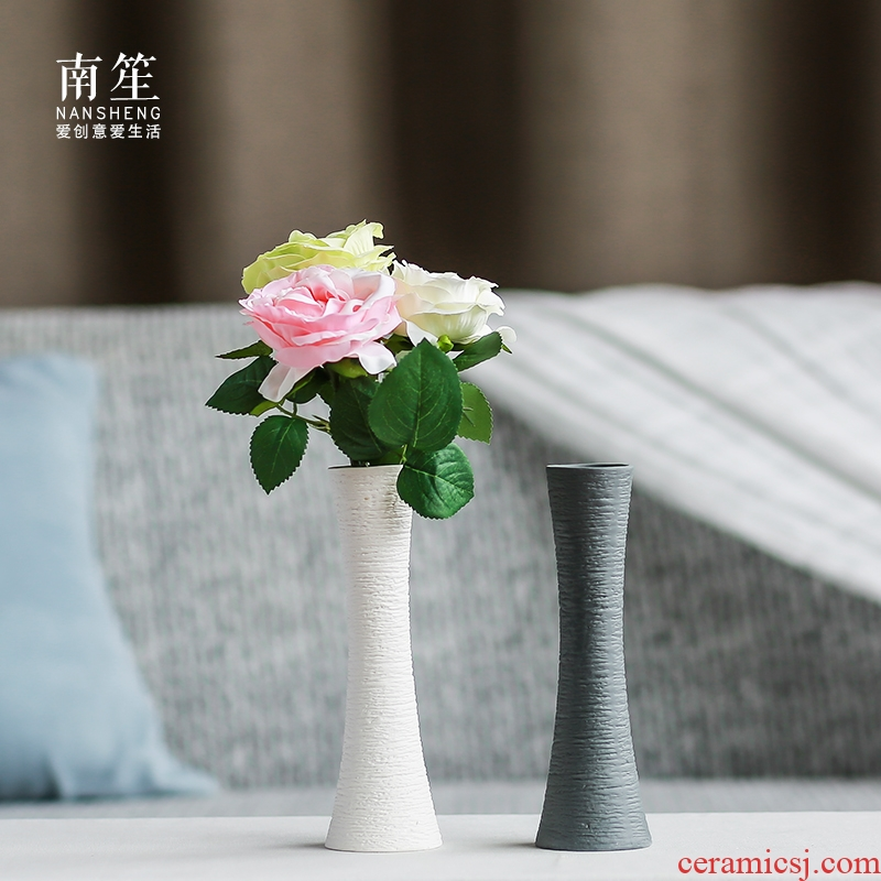 Nan sheng I and contracted household act the role ofing is tasted simulation flower, dried flower ceramic vase mesa place flower, flower art