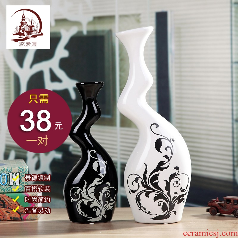 I and contracted household living room TV cabinet wine ceramic furnishing articles creative vases, flower crafts ornament