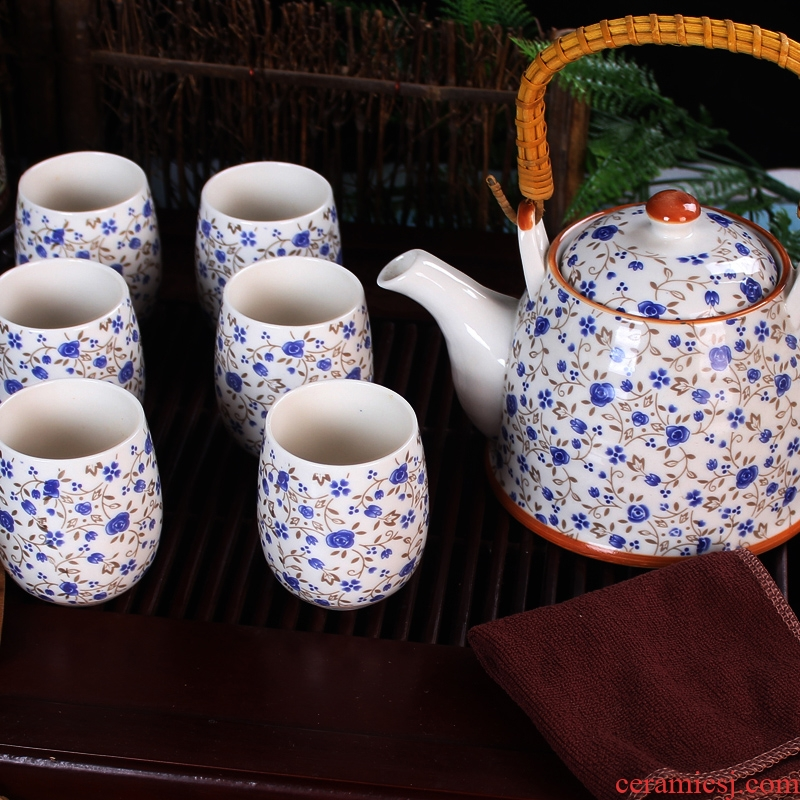 Jue ceramic tea set tea service of a complete set of 7 first girder tea set the teapot teacup