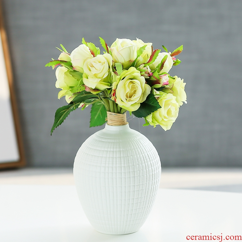 Nan sheng household act the role ofing is tasted contracted and I simulation flowers, dried flowers, ceramic vases, mesa place sitting room adornment