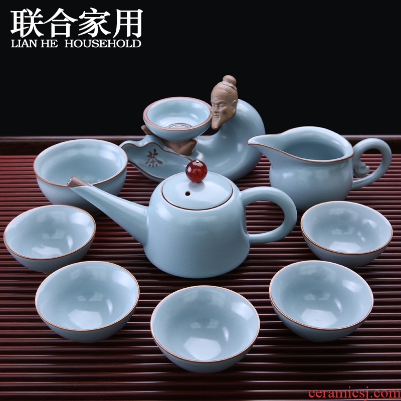 To be household utensils kung fu suit your up of a complete set of contracted ceramics piece of ice to crack open the teapot teacup tea taking