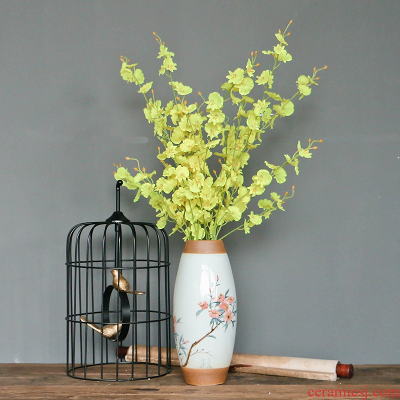 New Chinese style classical hand - made zen of ceramic floret bottle household soft adornment designer flower decoration