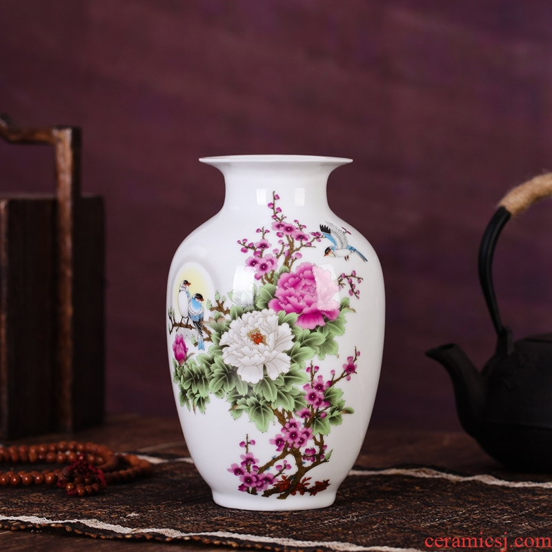 Package mail jingdezhen ceramic vase household adornment furnishing articles sitting room dining - room decorate craft flower vase