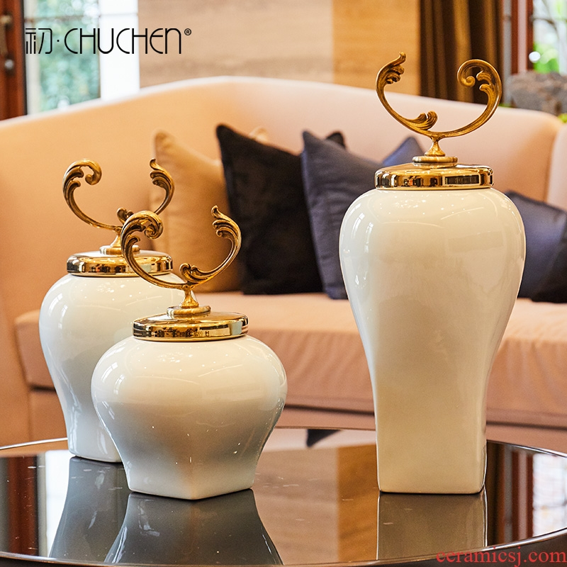 Modern Chinese style simple ceramic POTS furnishing articles home TV ark, porch between example process soft adornment furnishing articles