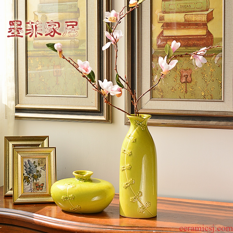 Furnishing articles of the new Chinese style household act the role ofing is tasted creative ceramic zen living room TV cabinet table wine porch decoration vase