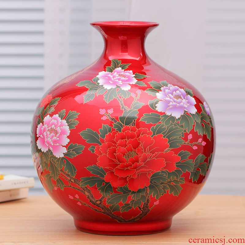 Jingdezhen ceramic vases, flower arranging is crystal glaze crafts are modern Chinese style is contracted home sitting room adornment