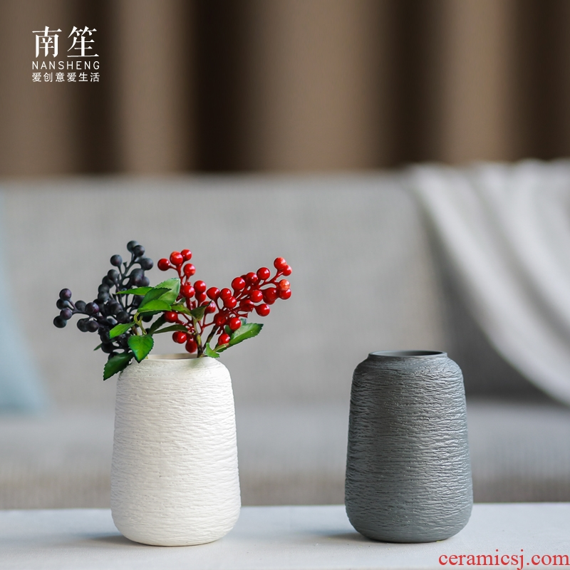 Nan sheng I and contracted, ceramic vases, simulation flowers, dried flowers, household act the role ofing is tasted furnishing articles mesa of flower arrangement