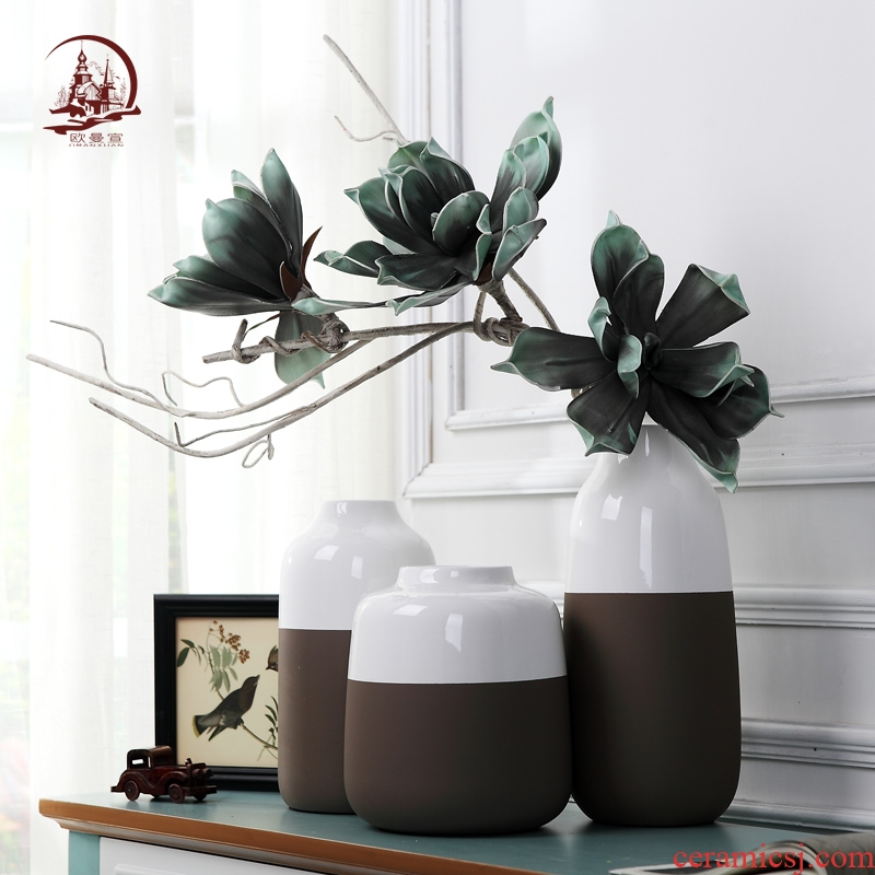 I and contracted Europe type insert ceramic vase creative fashion living room table household soft adornment art furnishing articles