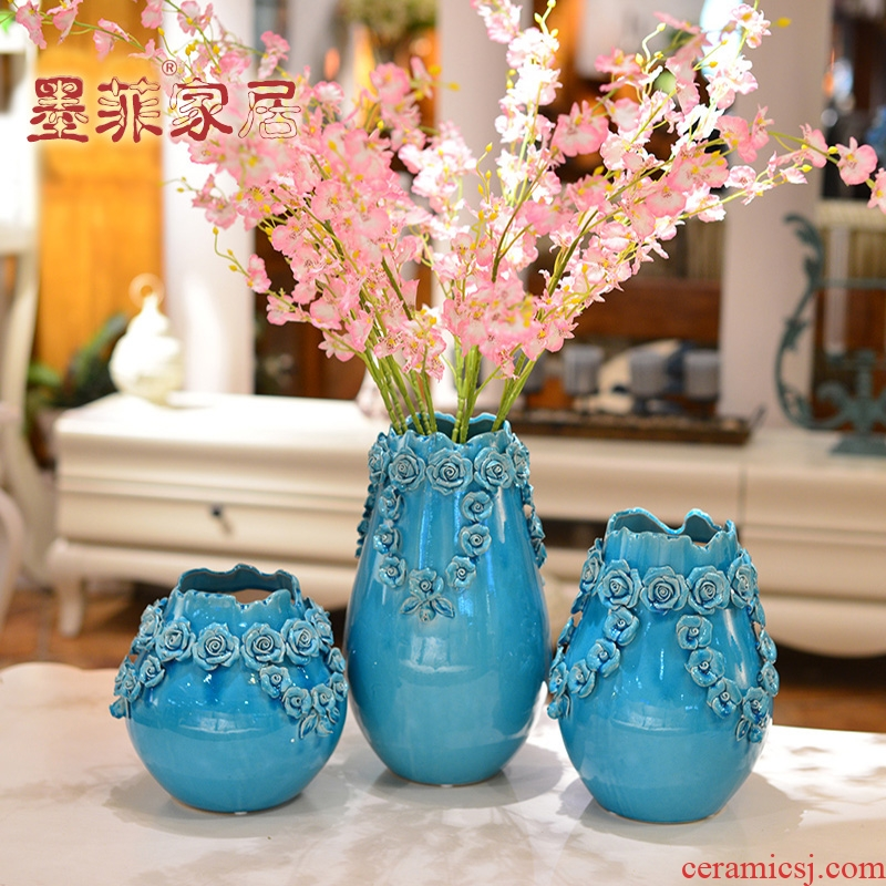 Ice crack glaze ceramic creative furnishing articles household act the role ofing is tasted I sitting room porch ark, TV ark, vase decoration decoration