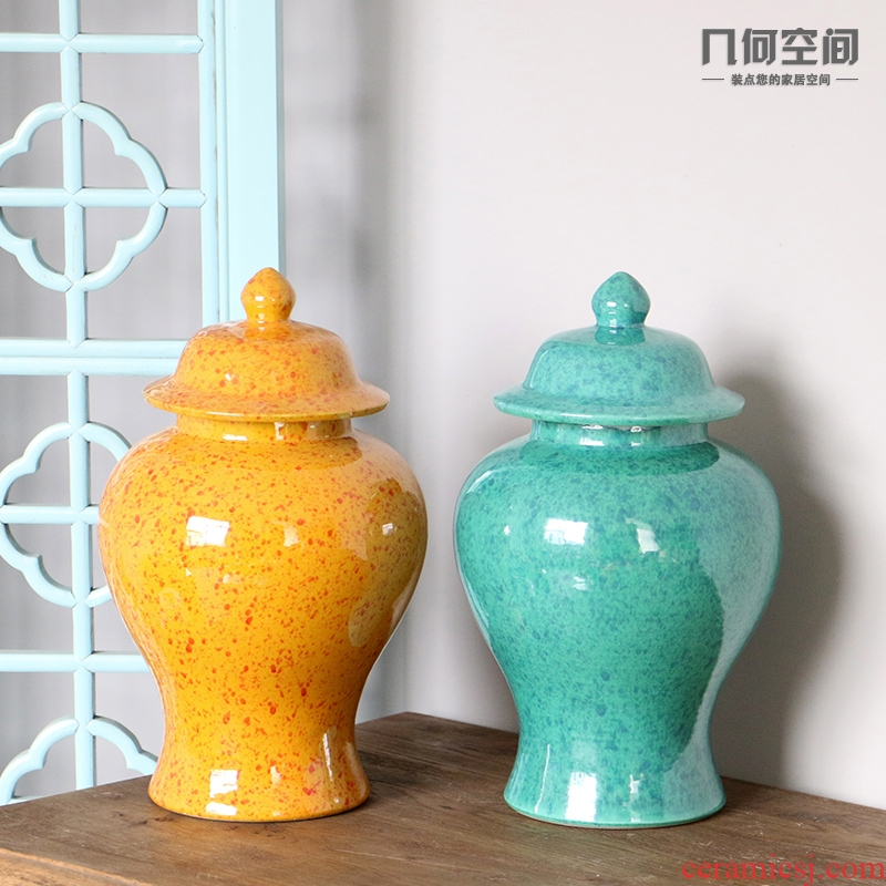 Creative high temperature ceramic jingdezhen variable glaze furnishing articles vases, flower implement general pot home decoration arts and crafts