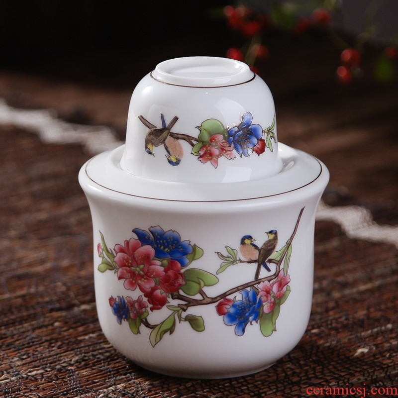 Warm liquor wine jingdezhen ceramic two temperature wine pot hot hip home wine glass wine yellow rice wine