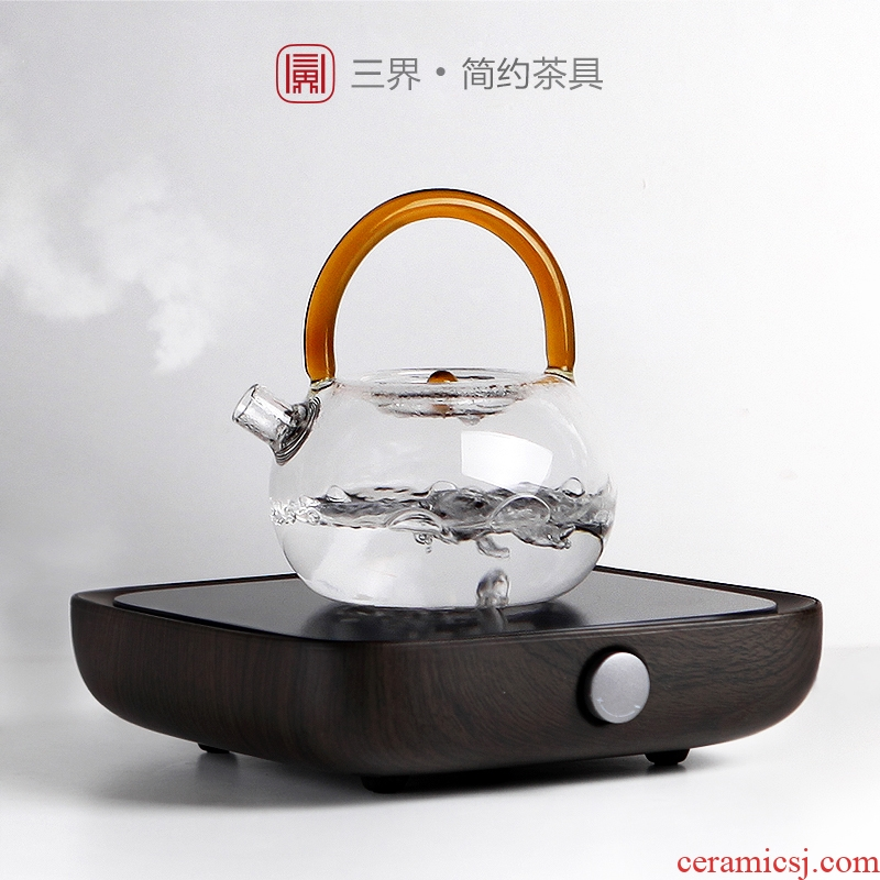 Zhe life TaoLu permeating the contracted electricity boiling tea ware glass teapot tea stove household pot of boiling water to girder electric heating furnace