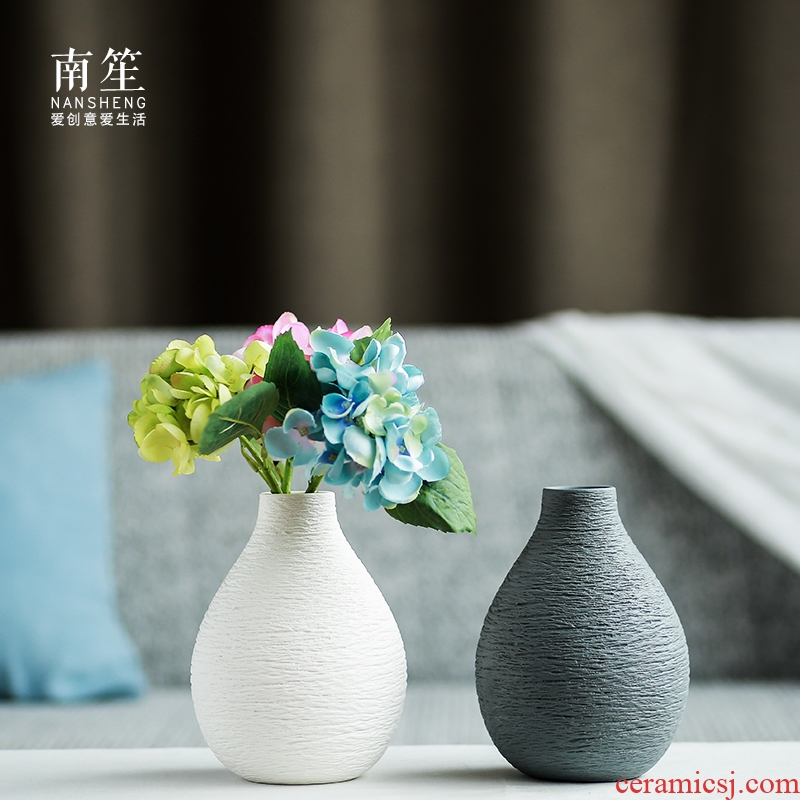 Nan sheng mesa of I and contracted household act the role ofing is tasted furnishing articles ceramic vase simulation flower, dried flower flower decorations