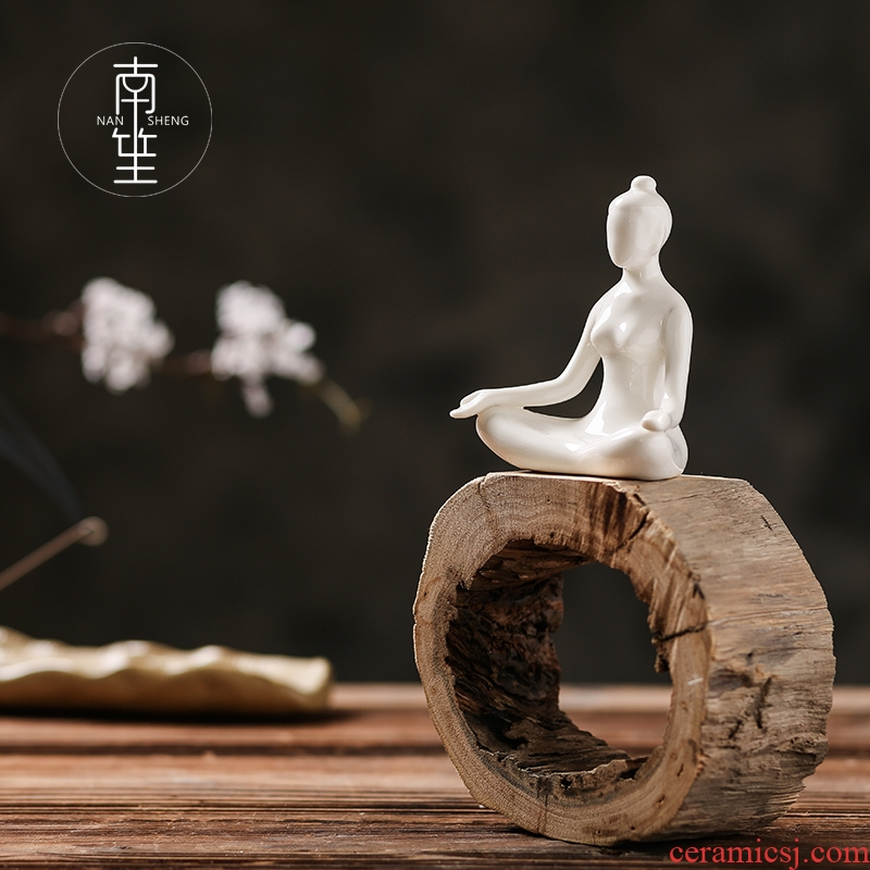 Nan sheng creative household act the role ofing is tasted ceramic wine TV ark, sitting room adornment yoga furnishing articles office opening gifts