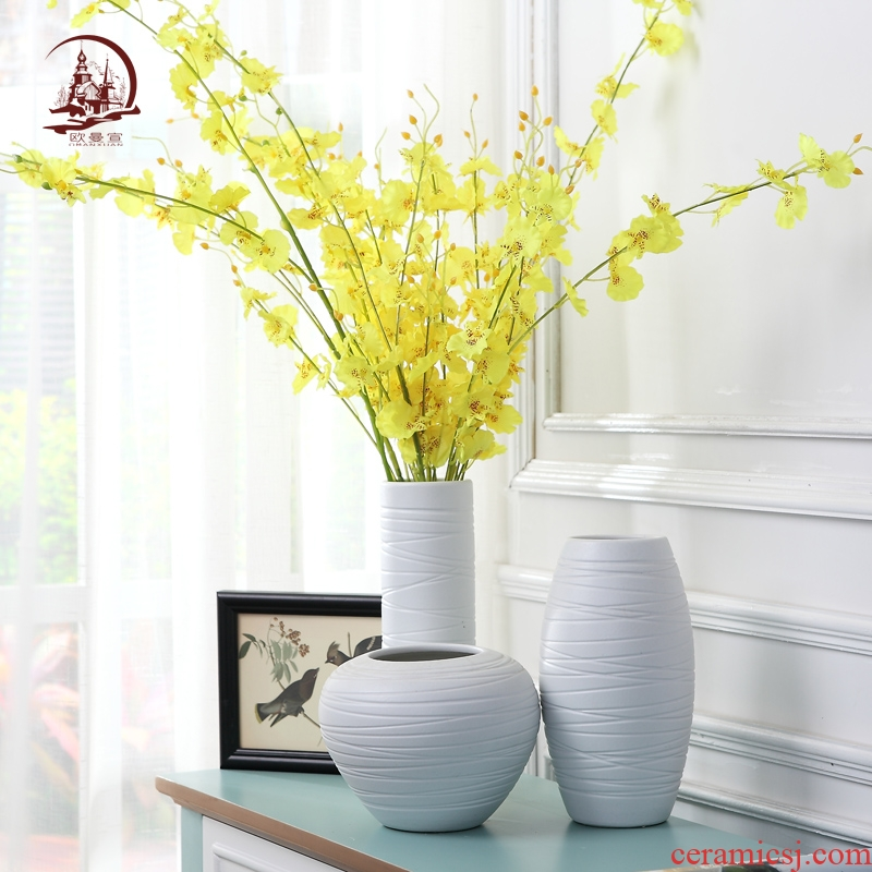I and contracted ceramic vase handicraft furnishing articles European ideas of dry flower arrangement sitting room home decoration