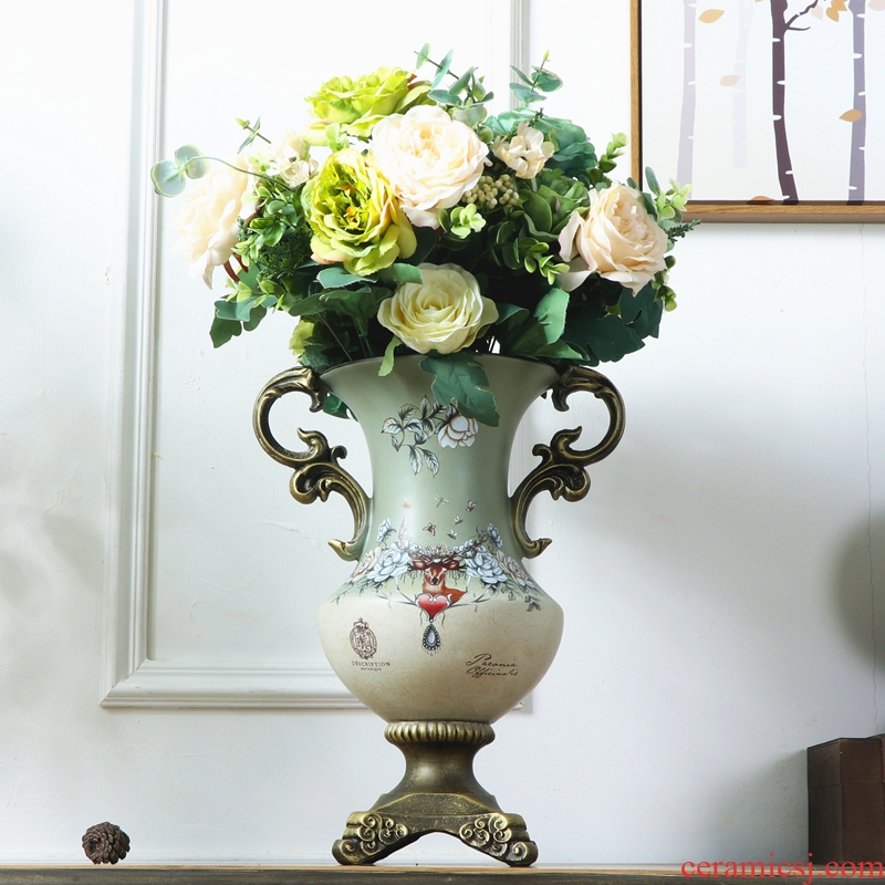 American vase creative ceramic art ceramic boreal Europe style restoring ancient ways vase sitting room adornment flower implement furnishing articles flower art as a whole